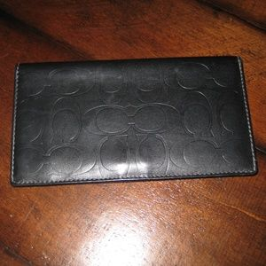 Coach Embossed Checkbook Cover